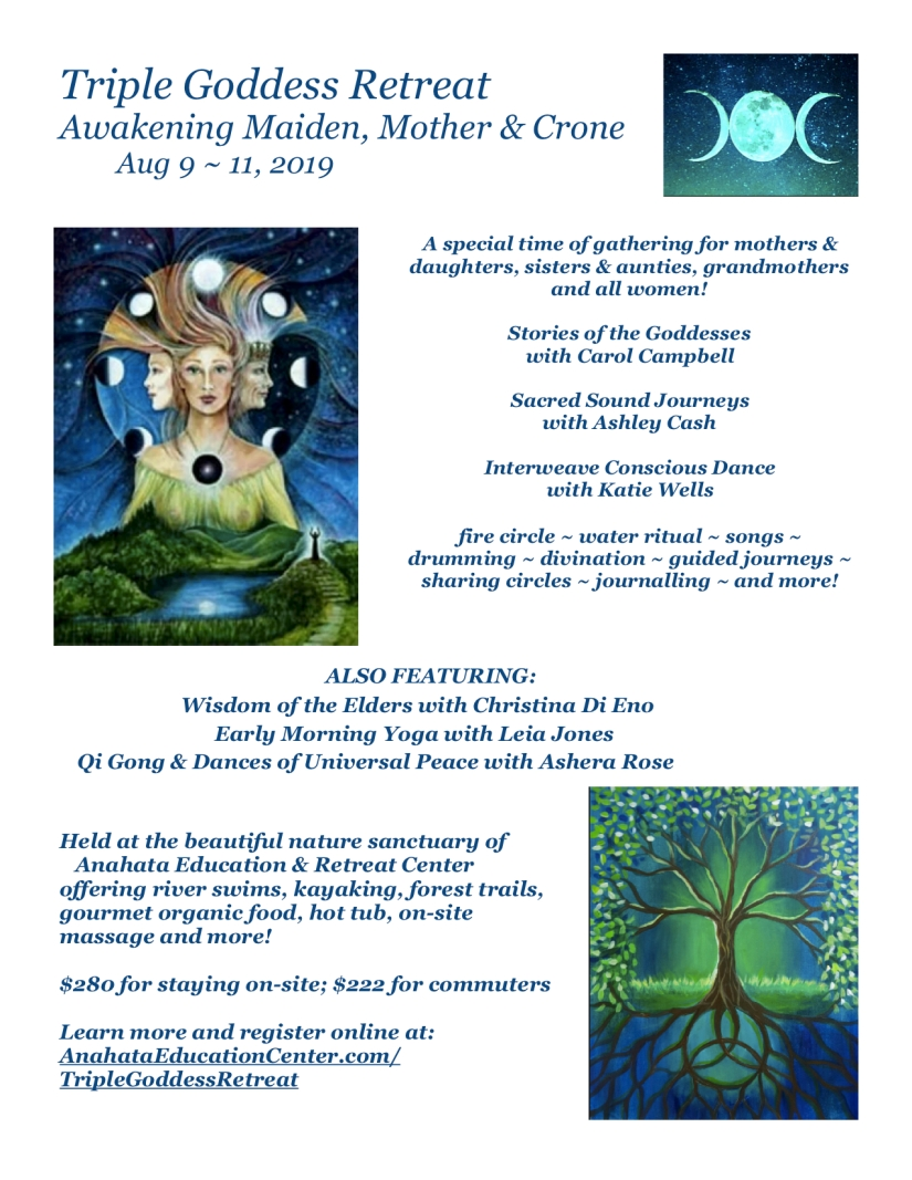 Triple Goddess Retreat Flyer